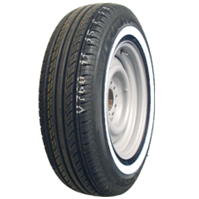 WHITE / RED WALL TYRES