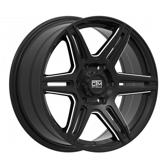 DEALER 17x8 -GLOSS BLACK / MILLED
