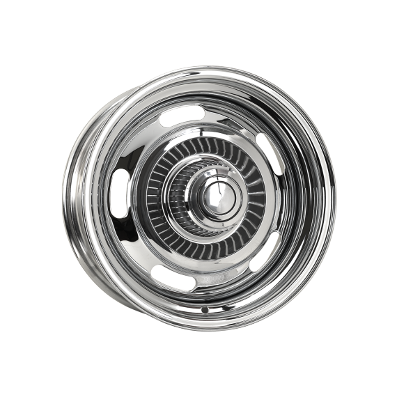 CHEV RALLYE WHEELS- CHROME PLATED- MADE IN THE USA