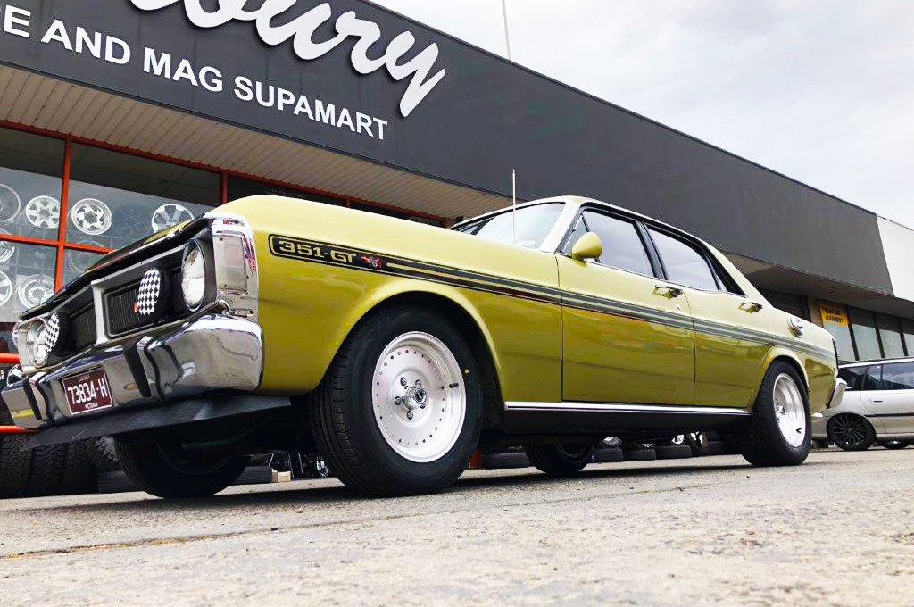 XY Falcon fitted with CTM Muscle Burnout wheels