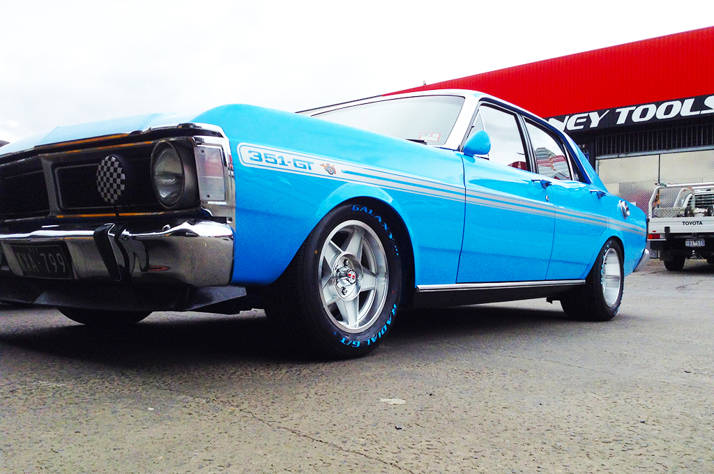 XF falcon fitted with CTM Muscle Globe wheels