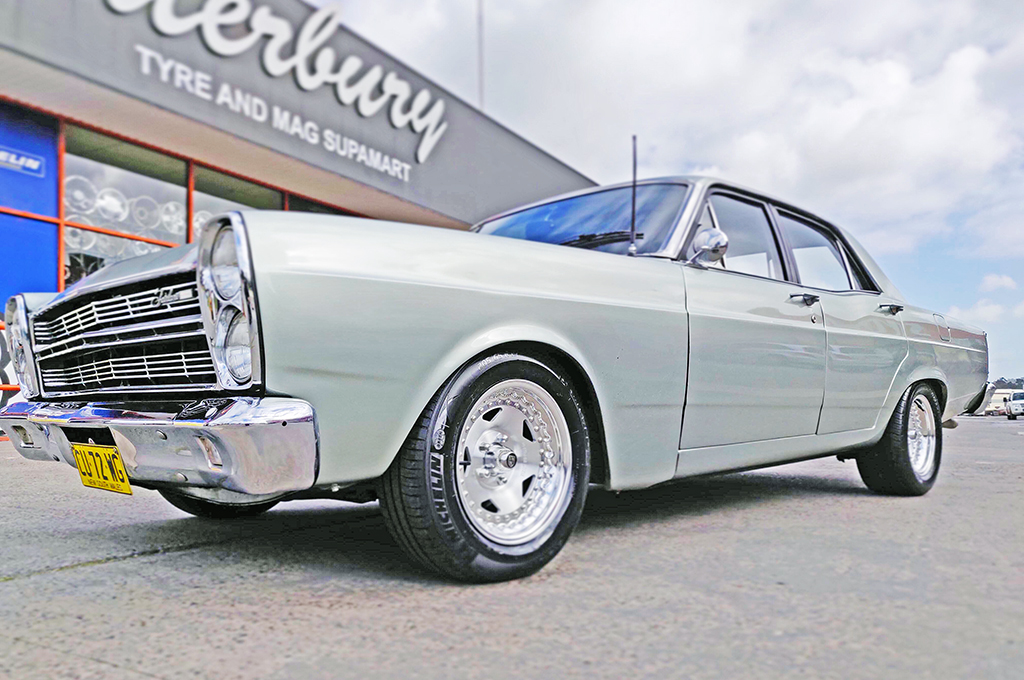 Classic Ford fitted with Center Line Convo Pro wheels