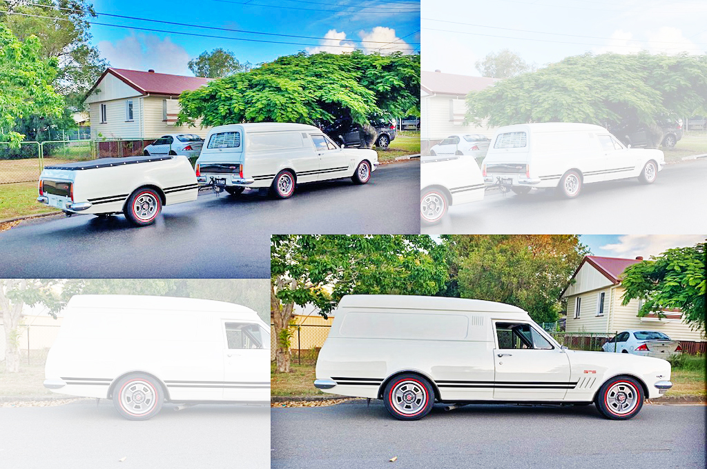 Holden HK panel van fitted with GTS Hubcap wheels