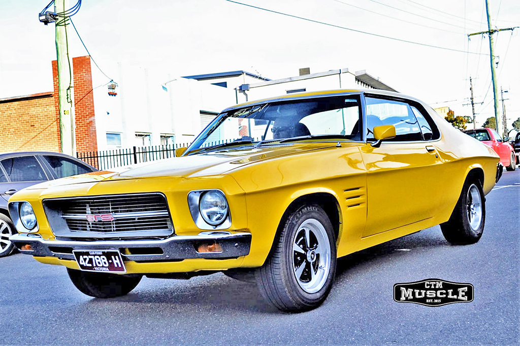 Holden Monaro fitted with 15-inch CTM Muscle GTS Sprint wheels