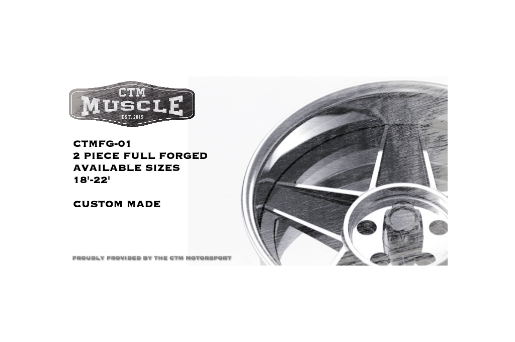 CTM Muscle Custom forged Globe billet ad