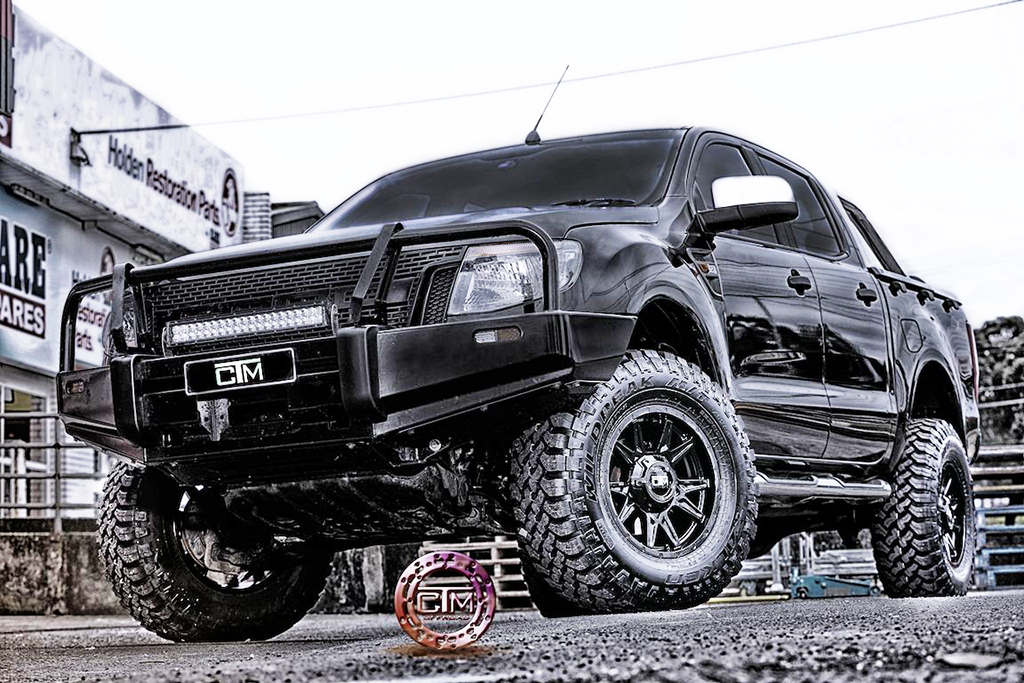 Ford Ranger fitted with CTM Offroad Phantom wheels