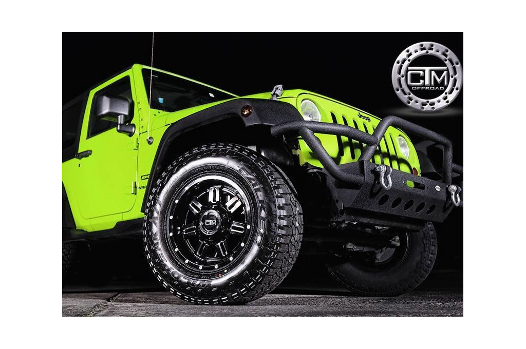 Jeep Wrangler fitted with CTM Offroad commander wheels