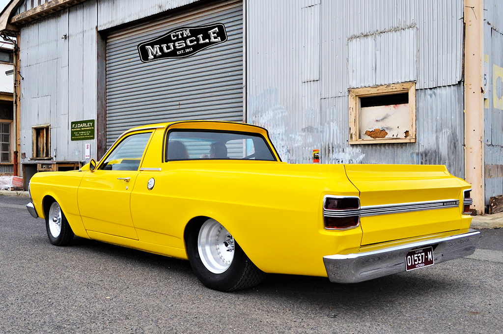 Ford ute fitted with Center Line Auto Drag